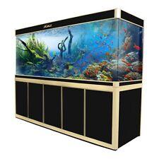 360 Gallon Large Glass Fish Tank Aquarium with LED Light and Stand Bundle