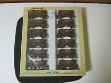 12 pack Walthers Goldline Michigan Ore Cars NIB 932-40507 HO Scale C&NW