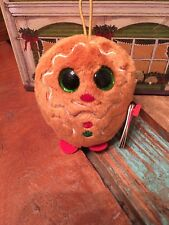 TY Baby Beanies 2' Plush X-mas Ornament.  NWT Free SHIP -SWEETS Gingerbread MAN