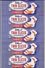 Vintage bread wrapper BUTTERNUT THIN SLICED SANDWICH Interstate Kansas City nrmt