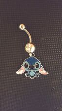 Stitch Belly Ring Navel Ring 14G Surgical Steel Dangle