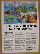 1986 CompuServe Apple II III Macintosh Computer Forums vintage print Ad