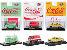 """""""COCA-COLA"""" RELEASE, SET OF 3 CARS 1/64 DIECAST MODELS BY M2 MACHINES 52500-A01"""