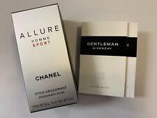 Chanel Allure Homme Sport Deodorant Stick Free 2 Givenchy Gentleman Vials Spray