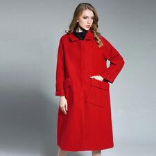 Plus size womens woollen coat thicken long sleeve wool Elegant coats winter new