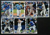 2019 Bowman Kansas City Royals Paper Base Team Set 7 Baseball Cards