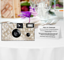 20 Pearls Disposable Cameras-Personalize-weddi ng camera/anniversary