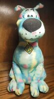"Toy Factory Scooby Doo 13"" Plush Rainbow Tie Dye-Zig Zag Stuffed-Gift Basket 106"