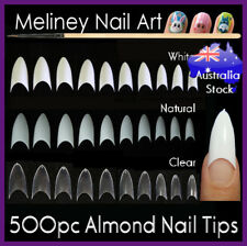 500pc Almond Tips Stiletto Pointy Oval Nails False Shape Acrylic Gel Claw Nail