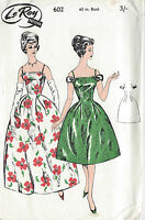 1950s Vintage Sewing Pattern B40 DRESS (1324)