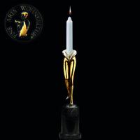 Sculpture Bronze Figur Lady´s Candleholder Erotic Art Statue Akt Woman Sexual