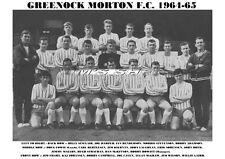 GREENOCK MORTON F.C. TEAM PRINT 1964-65
