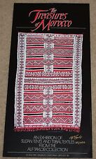 Treasures of Morocco Signed Exhibition Poster Alf Taylor Oriental Rug Carpet Art