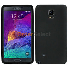 Soft Slim Rubber Gel Case Skin for Android Samsung Galaxy Note 4 Black 200+SOLD