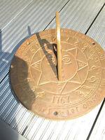old brass sun dial