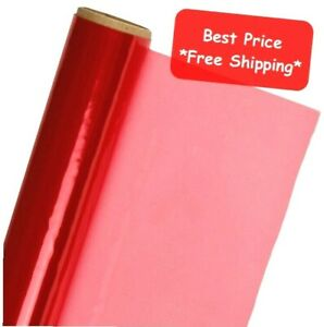 """RED Cellophane Wrap Roll 12.5' Ft Long X 20"""" in. Wide  Art Gift Wrapping Craft"""