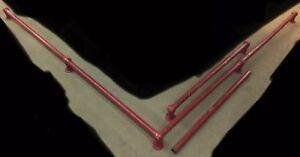 """22+ft. Of 2"""" Brass Bar Footrest/Railing W/ End, T, & Corner Caps & Flanges"""