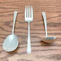 Antique MARIANNE Silverplate Serving Set Casserole Spoon Meat Fork & Gravy Ladle