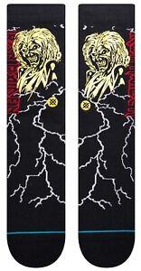 Stance x Iron Maiden Night City Killers Crew Metal Rock Socks Large Men's 9-13