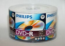 50 PHILIPS 16X Logo DVD-R DVDR Blank Disc Media 4.7GB 120Min