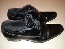 "dsquared ""plated logo"" laced elegant black leather shoes size 41 (like 42 - 43)"
