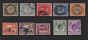 Kenya Uganda Tanganyika - 10 old revenue stamps