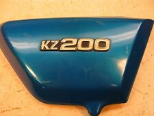 1977 kawasaki kz200 rh right side cover w emblem k404~