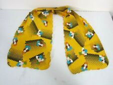 Vtg 60's Hippie Woodstock Fashion Scarf Geometric Graphic Scallop Edge Unique