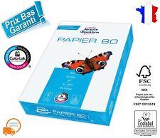 500 Feuilles Blanches Format A4 Papier 80g /m² pour Imprimante Laser Jet d'encre