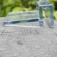 6/8mm acuario tanque claro plástico clips cubierta soporte fuerte de vidrio