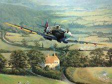 aviation art Spitfire canvas print 72 Squadron WW2 Spitfire Trevor Lay giclee