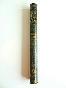 Bryant & May's Wax Tapers Candle Tin Cylinder Chinese Japanese Design Circa 1880