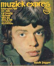 MAGAZINE MUZIEK EXPRES FEBRUARI 1968 - HOLLIES/BEATLES/ROLLING STONES/GROEP 1850