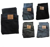 MENS EX MARKS AND SPENCER SLIM FIT STRAIGHT LEG JEANS ZIP FLY ADDED STRETCH