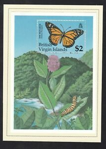 BVI 1991 - SG/MS792a Butterflies  - Mint lightly hinged on card (N53)