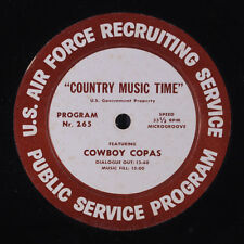 COWBOY COPAS / BILLY GRAMMER: Country Music Time Radio Show LP Country