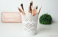 Make Up Brush Holder Pot White / Candle Holder FREE POSTAGE & PACKING