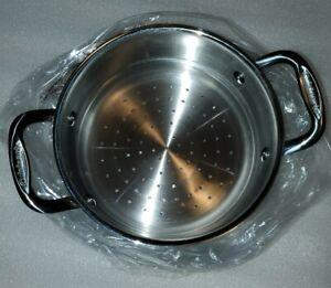 """Cuisinart Steamer Insert W/ Side Handles For 7"""" Inside Diameter Pot 6116-18S"""