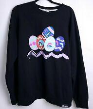 Pink + Dolphin Mens Sz 2XL Sweatshirt Black Easter Egg Ghost Lighthouse EUC A40