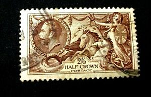 1934 RE - ENGRAVED 2/6d  Chocolate Brown - SG450 - SEAHORSE