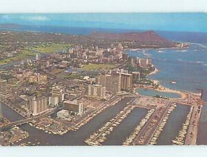Pre-1980 AERIAL VIEW Waikiki - Honolulu Hawaii HI AD0227