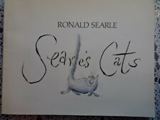 SEARLE'S CATS ~ RONALD SEARLE ~ HUMOROUS CARTOON CATS ~ VINTAGE SC ~ LIKE NEW