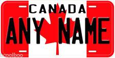 Canada Flag Aluminum Novelty Car License Plate