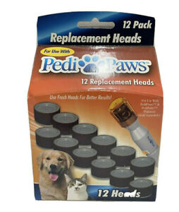 """Pedi Paws Replacement Filing Heads 12 Heads -  NEW & SEALED """"FREE SHIPPING"""""""