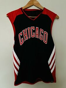 Adidas NBA Chicago Bulls Basketball Vest Top Size Small Reversible Climalite