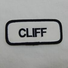 "CUSTOM EMBROIDERED NAME TAG SEW ON PATCH ""CLIFF"""