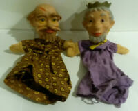 King Wizard puppet vintage hand 1960s pair