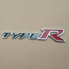 3D Metal TYPE-R Auto Emblem Decal TypeR Logo Black With Red Car Badge Sticker