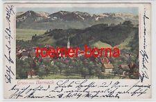 74458 Ak Gruß aus Berneck Schweiz Totalansicht 1902