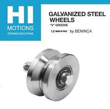Beninca 6 V Groove Galvanized Steel Sliding Gate Wheel 3000 Lb 135148 2 Pcs